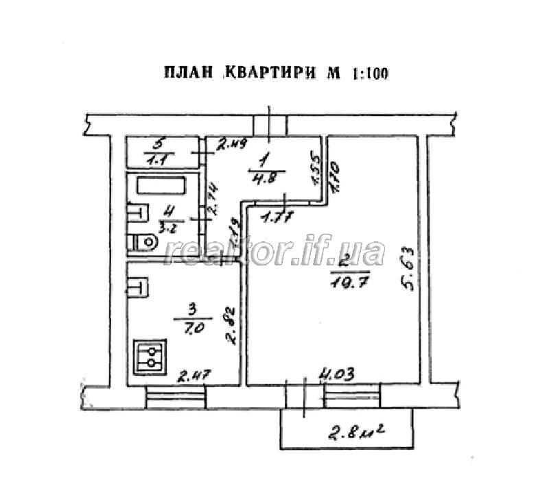 Планировка однокомнатной квартиры в кирпичном доме
