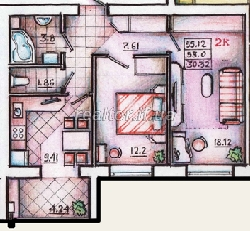 2 bedroom apartment in a new building