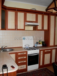 The apartment is in a residential building in the village of Krykhivtsi, renovated and furnished