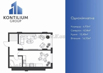 One-room apartment in a newly built building
