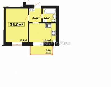I sell an urgent apartment in a new building on Stus Street builder Yarkovitsa